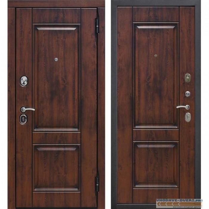 Входная металлическая дверь Вена Винорит (Грецкий орех / Грецкий орех)