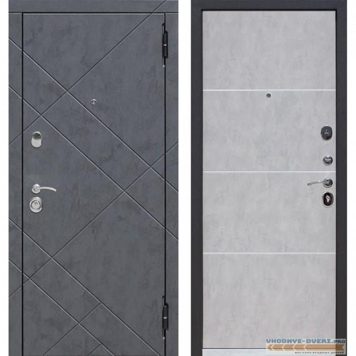 Входная металлическая дверь Бруклин (Бетон графит / Бетон пепельный)