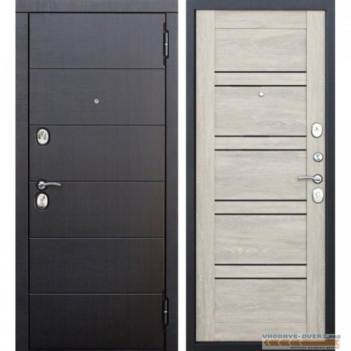 Входная металлическая дверь Чикаго (Венге / Дуб Шале белый)