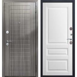 Входная металлическая дверь Гарда (Грей / Белый матовый)