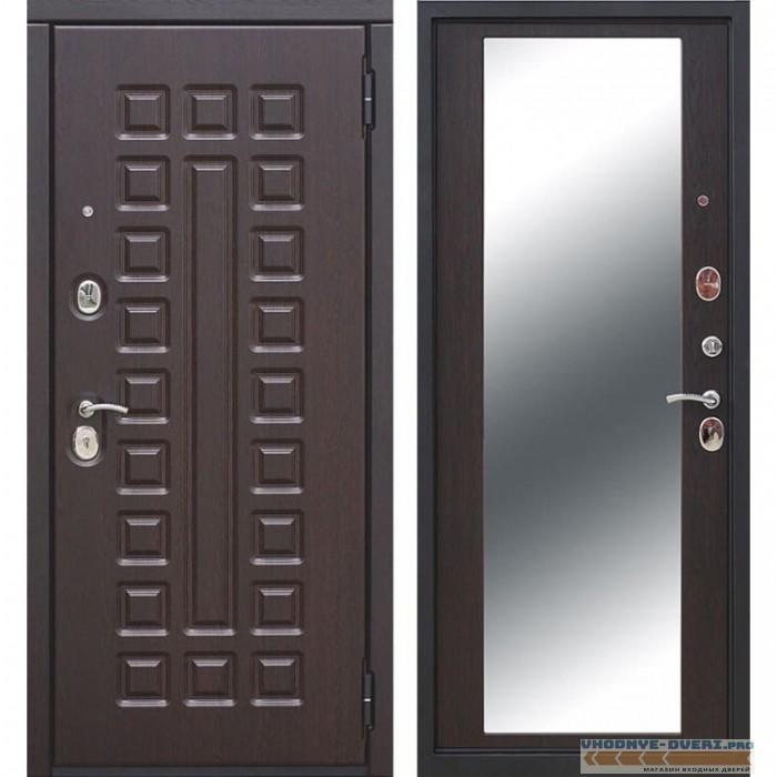 Входная металлическая дверь Монарх Зеркало Maxi (Венге / Венге)
