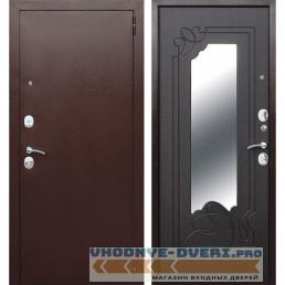 Входная металлическая дверь Ампир Зеркало (Антик Медь / Венге)