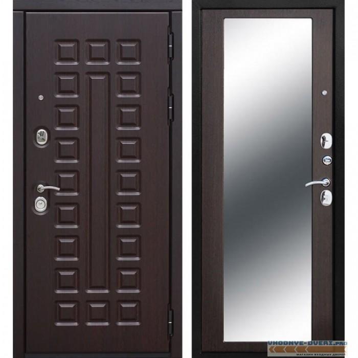 Входная металлическая дверь Сенатор Зеркало Maxi (Венге / Венге)