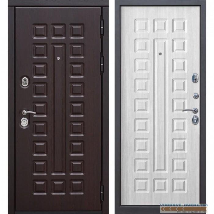 Входная металлическая дверь Сенатор (Венге / Ясень белый)