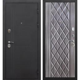Входная металлическая дверь Троя (Черный муар / Палисандр темный)