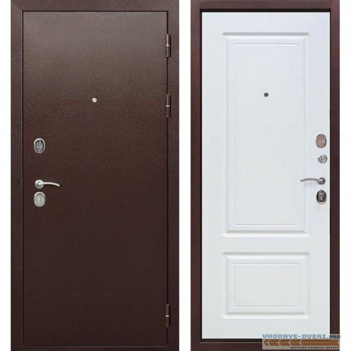 Входная металлическая дверь Толстяк 10 см (Антик Медь / Ясень белый)