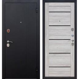 Входная металлическая дверь Нью-Йорк (Черный муар / Дуб санремо светлый)