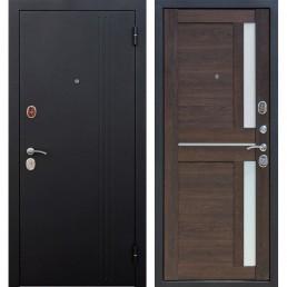 Входная металлическая дверь Нью-Йорк (Черный муар / Каштан мускат)