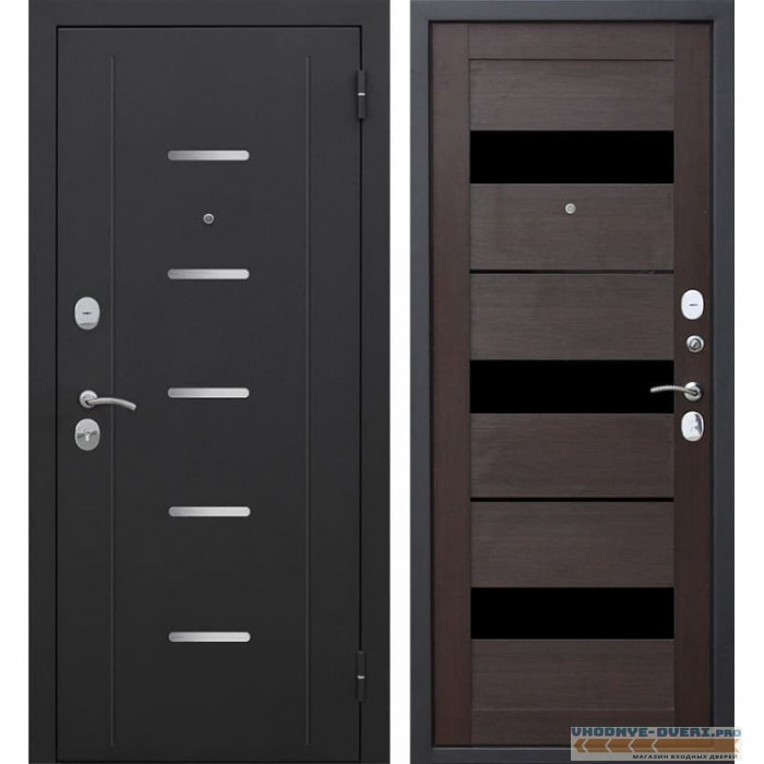Входная металлическая дверь Гарда (Черный муар / Темный кипарис)
