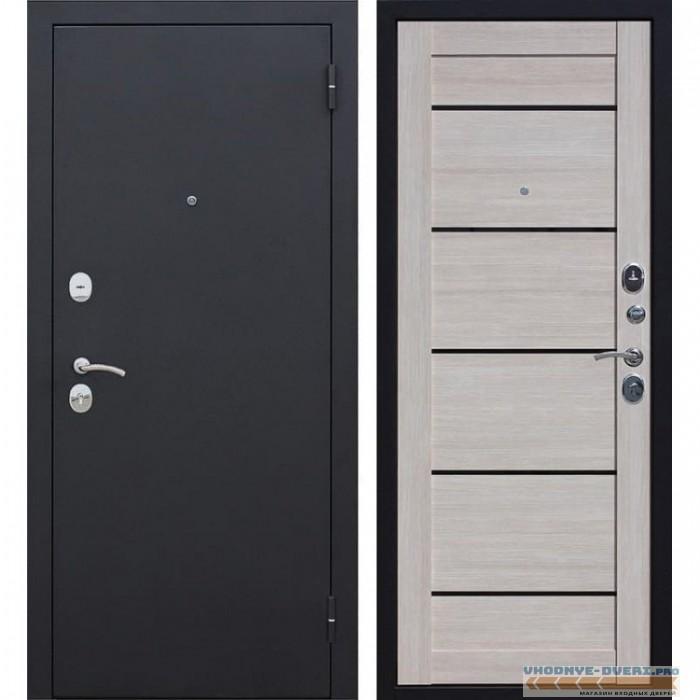 Входная металлическая дверь Гарда Царга (Черный муар / Лиственница мокко)