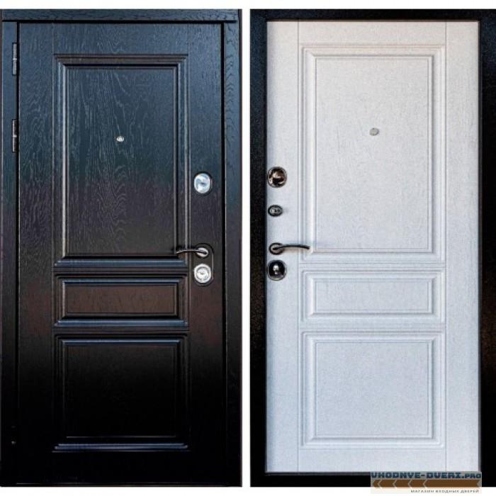 Входная металлическая дверь Мегаполис 3К (Альберо блэк / Альберо браш грей)