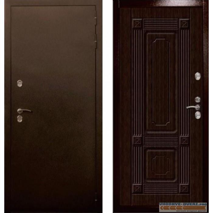 Уличная входная дверь Цитадель Термо Север 3К (Антик медь / Венге)