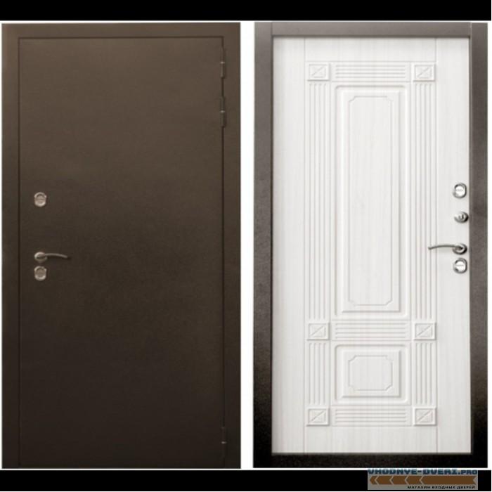 Уличная входная дверь Цитадель Термо Север 3К (Антик медь / Сандал белый)