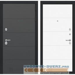 Входная дверь Лабиринт ART графит 13 - Белый софт