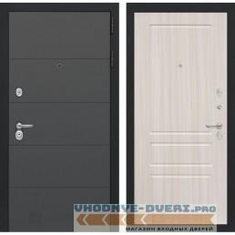Входная дверь Лабиринт ART графит 03 - Сандал белый