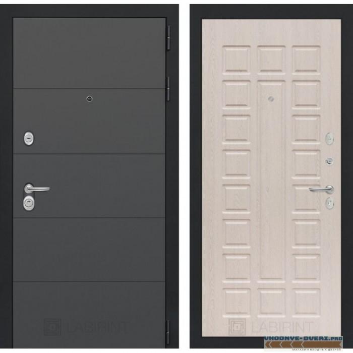 Входная дверь Лабиринт ART графит 04 - Беленый дуб