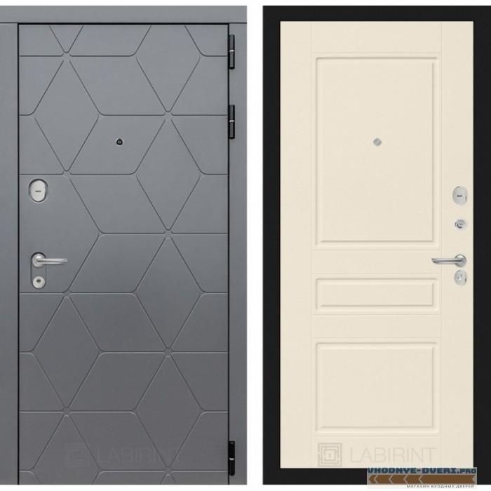 Входная дверь Лабиринт COSMO 03 - Крем софт