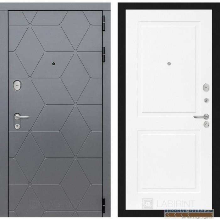 Входная дверь Лабиринт COSMO 11 - Белый софт