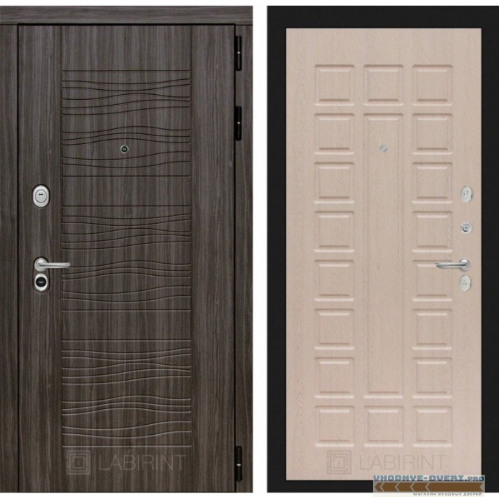 Входная дверь Лабиринт SCANDI Дарк грей 04 - Беленый дуб