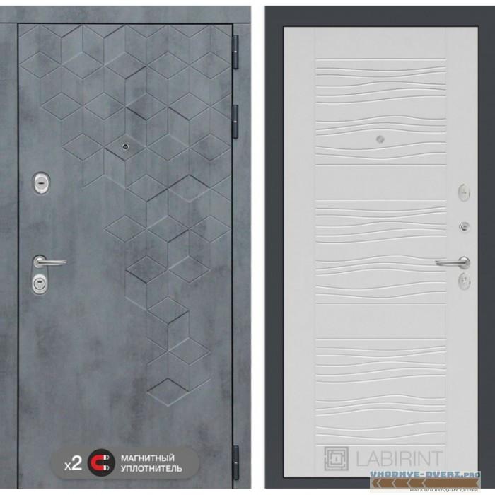 Входная дверь Лабиринт Бетон 06 - Белое дерево