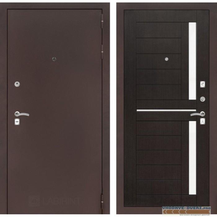 Входная дверь Лабиринт CLASSIC антик медный 02 - Венге