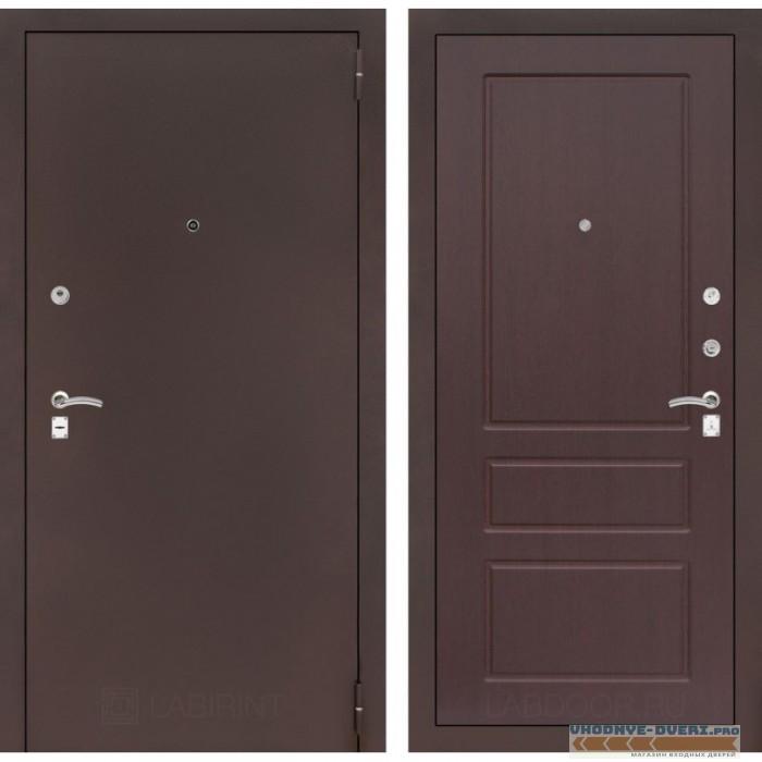 Входная дверь Лабиринт CLASSIC антик медный 03 - Орех премиум