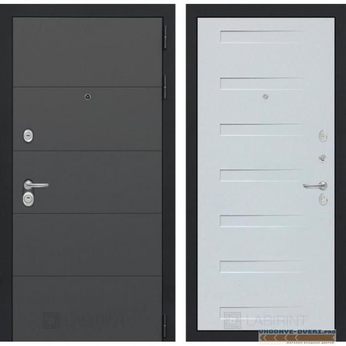 Входная дверь Лабиринт ART графит 14 - Дуб кантри белый горизонтальный