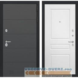 Входная дверь Лабиринт ART графит 03 - Белый софт