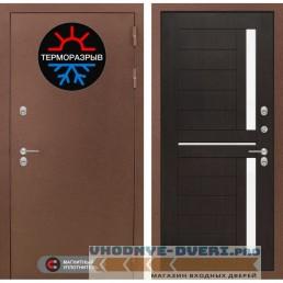 Дверь Лабиринт Магнит 02 - Венге, со стеклом белое-copy
