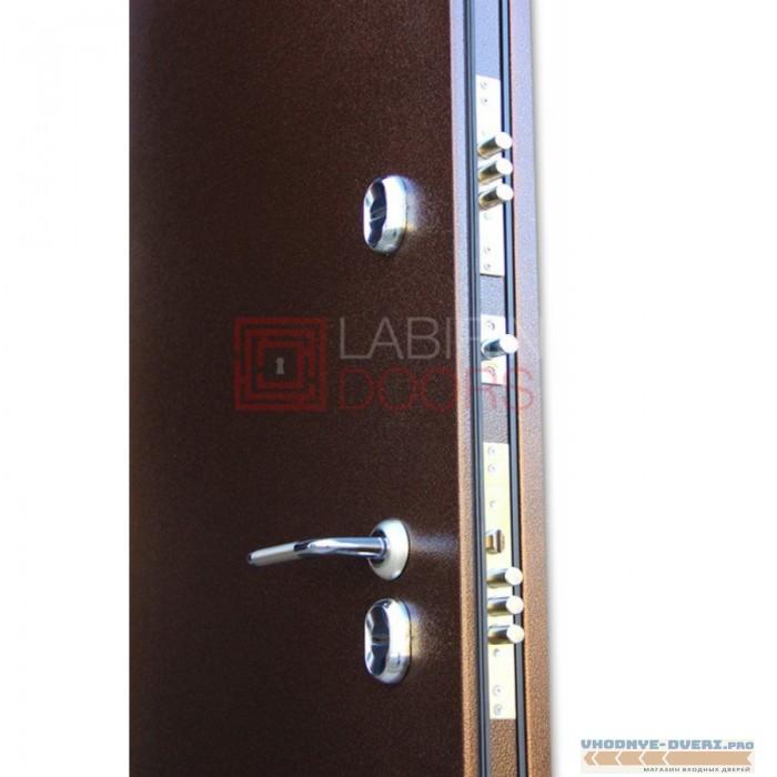 Входная Дверь Лабиринт Магнит 02 - Венге, со стеклом белое-copy