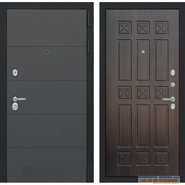 Входная дверь Лабиринт ART графит 16 - Алмон 28