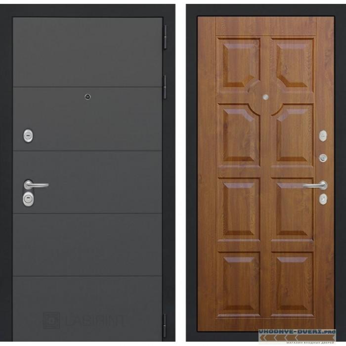 Входная дверь Лабиринт ART графит 17 - Золотой дуб