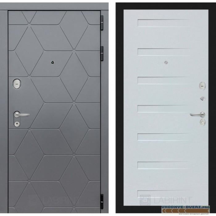 Входная дверь Лабиринт COSMO 14 - Дуб кантри белый горизонтальный