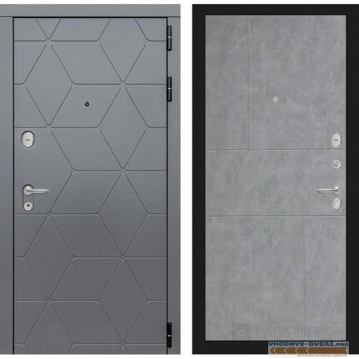 Входная дверь Лабиринт COSMO 21 - Бетон светлый