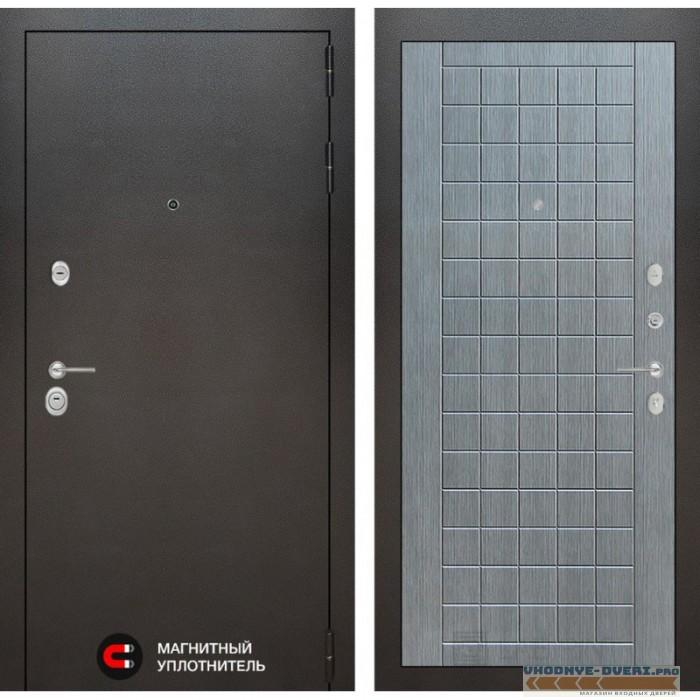 Входная дверь Лабиринт Сильвер 09 - Лен сильвер грей