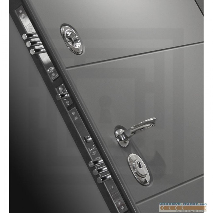Входная дверь Лабиринт ART графит 02 - Венге, стекло белое
