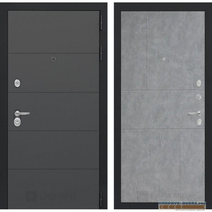 Входная дверь Лабиринт ART графит 21 - Бетон светлый