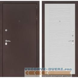 Входная дверь Лабиринт CLASSIC антик медный 06 - Белое дерево