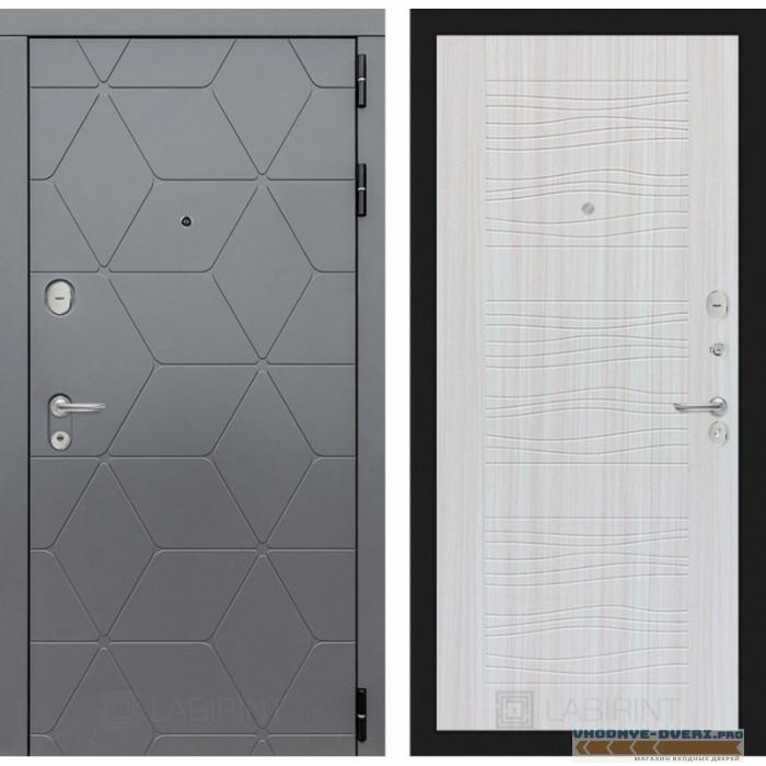 Входная дверь Лабиринт COSMO 06 - Сандал белый