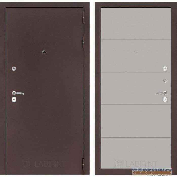 Входная дверь Лабиринт CLASSIC антик медный 13 - Грей софт