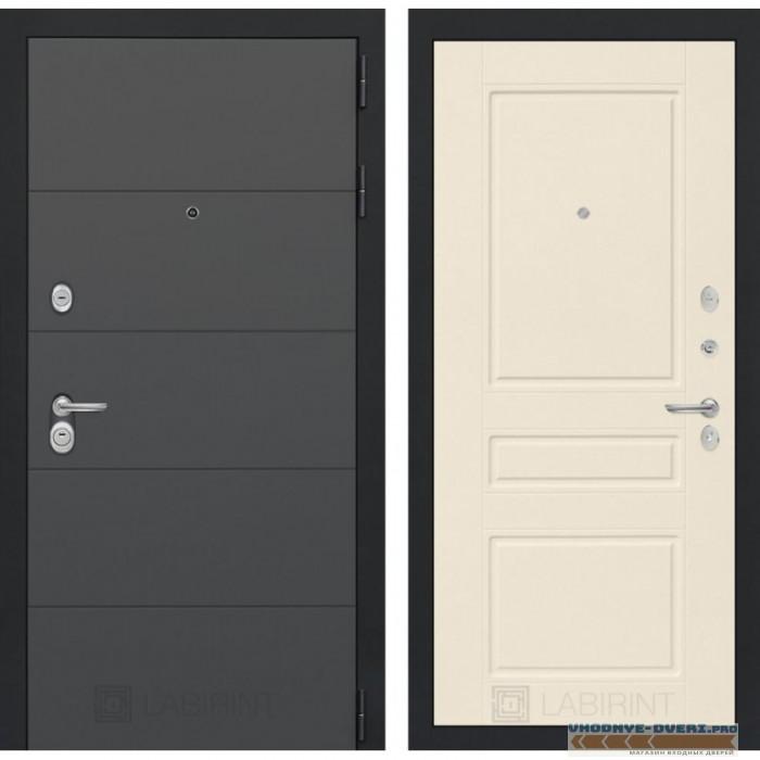 Входная дверь Лабиринт ART графит 03 - Крем софт