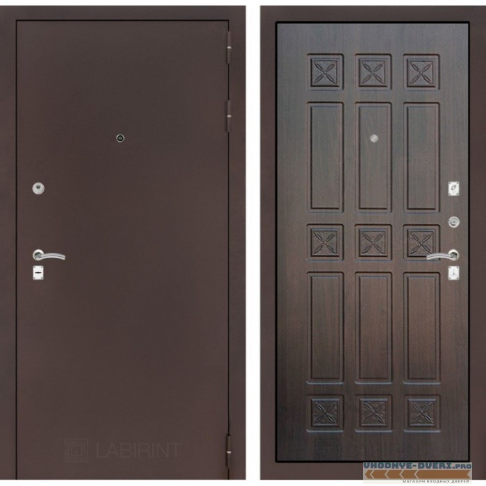 Входная дверь Лабиринт CLASSIC антик медный 16 - Алмон 28