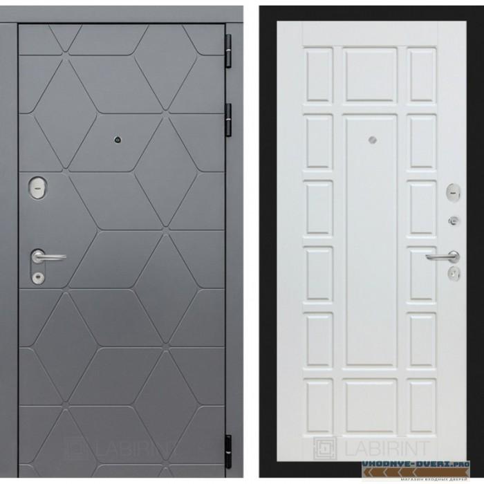 Входная дверь Лабиринт COSMO 12 - Белое дерево