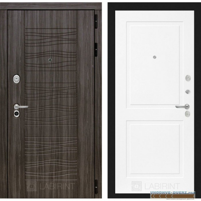Входная дверь Лабиринт Сканди 11 - Белый софт