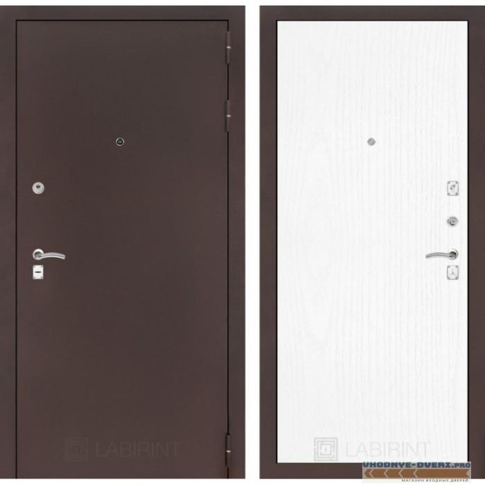 Входная дверь Лабиринт CLASSIC антик медный 07 - Белое дерево