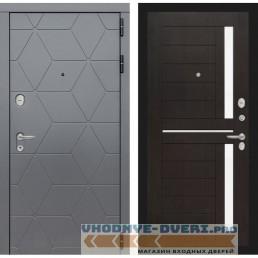 Входная дверь Лабиринт COSMO 02 - Венге, стекло белое