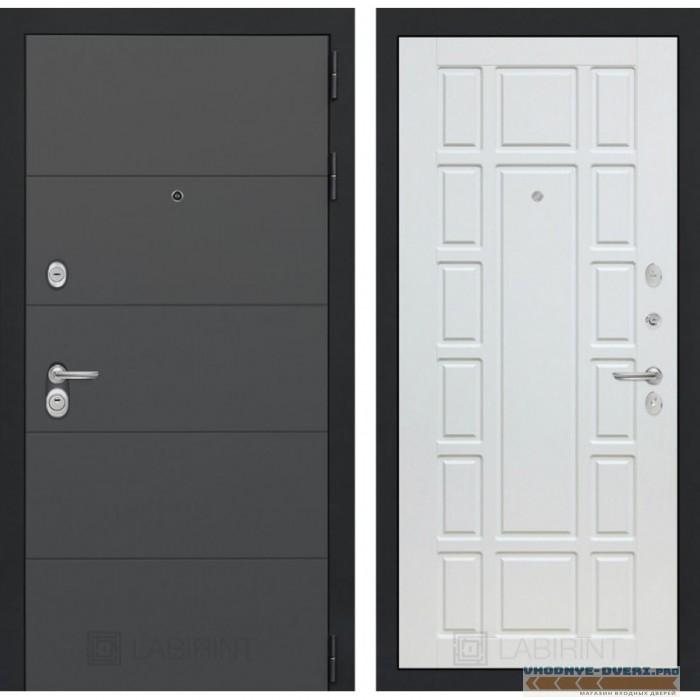 Входная дверь Лабиринт ART графит 12 - Белое дерево