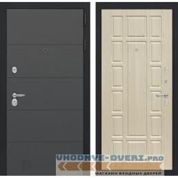 Входная дверь Лабиринт ART графит 12 - Беленый дуб