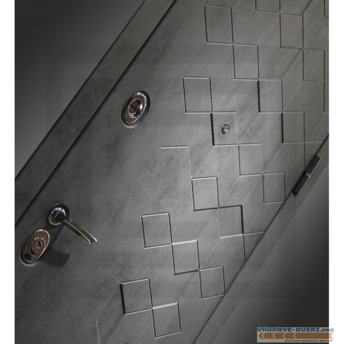 Входная дверь Лабиринт Бетон 11 - Белый софт