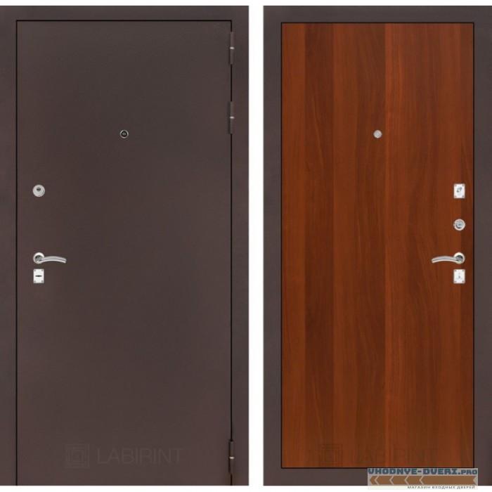 Входная дверь Лабиринт CLASSIC антик медный 05 - Итальянский орех